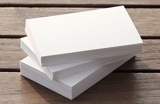 Визитки на мелованной бумаге
